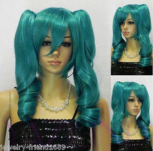 Wholesale heat resistant LY free shipping New wig Cosplay Short Dark Green wig Heat Resistant Wig