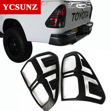 ABS Matte Black Car Accessories Tail Lights Cover For Toyota