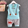 Novas crianças roupas de bebê do sexo masculino colete terno moda versão coreana do tie cintas parágrafo meninos define