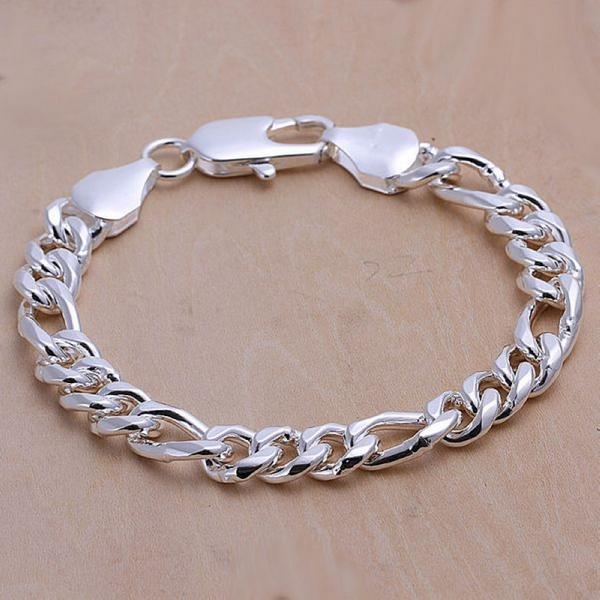 Fashion Silver Plated Bracelets 10mm 8inch 6 Style Male Models Bracelet For Mens Cool Free Shipping In Bangles From Jewelry Accessories On