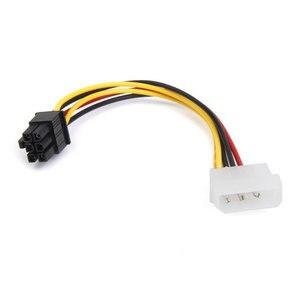 Image 2 - PVC 4 핀 몰 렉스에서 6 핀 PCI Express PCIE 비디오 카드 전원 변환기 어댑터 케이블 20cm 전원 변환기 어댑터 케이블