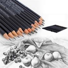 14 шт./лот, высокое качество, набор карандашей для эскизов и рисования HB 2B 6H 4H 2H 3B 4B 5B 6B 10B 12B 1B, школьные принадлежности для художественного письма