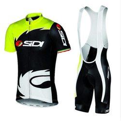 2018 Summer New men Sidi TEAM Cycling JERSEY Quick Dry Ropa Ciclismo Mens Bicycle Clothing GEL Breathable Pad Bib Short Sets