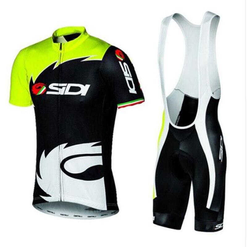 2018 verão sidi equipe camisa de ciclismo secagem rápida ropa ciclismo dos homens bicicleta roupas gel respirável almofada bib curto define mulher