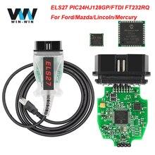 ELS27 Forscan Obd OBD2 Scanner Auto Diagnostische Auto Tool Kabel Els 27 Ftdi PIC24HJ128GP Voor Ford Voor Mazda Voor J2534 elm 327 V1.5