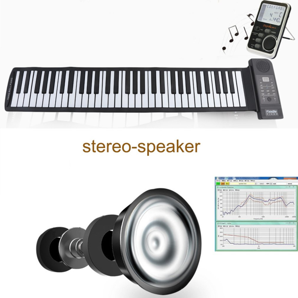 61 Keys Music Key Board Teaching Learning Electronic Organ Superior Roll Up Piano Children Great Gifts US Plug