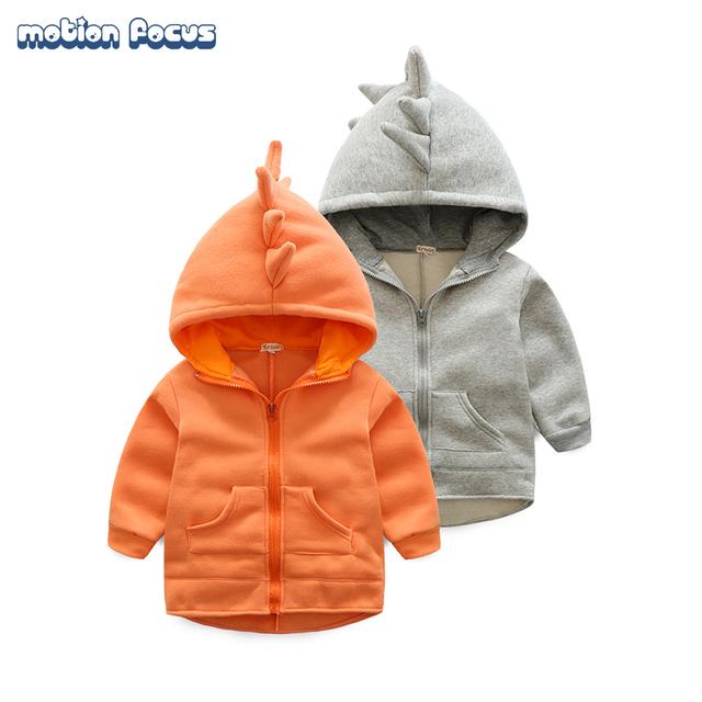 Novo 2017 Primavera Outono Crianças Outwear Casaco Com Capuz de Algodão Meninos das Meninas Roupas 1-2 Anos de Miúdos Meninos & Girls Camisola