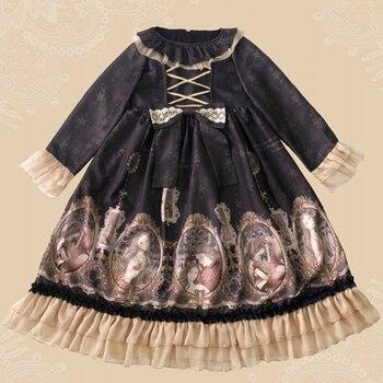 2019 Limited New Original Design Japanese Soft Sister Princess Lolita Little Daily Dress Skirt Long Sleeve Op Female