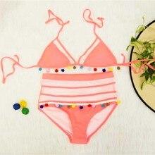 High Waist Lace Side Push Up Brazilian Bikini Set