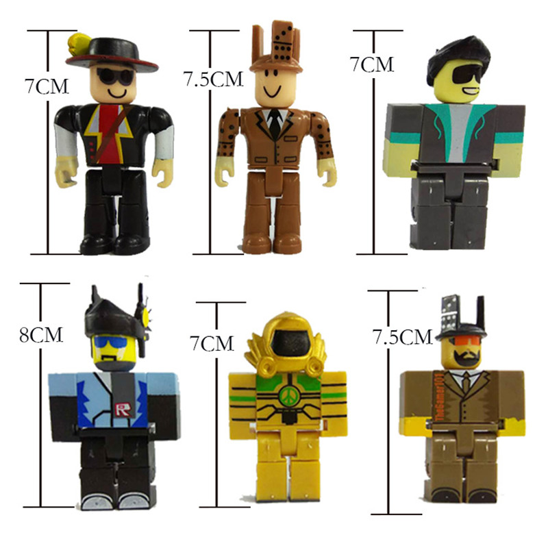 US $6 76 14% OFF 6pcs/set 7 5cm Cartoon Pvc Roblox Figma Oyuncak Action  Figure Toys with Weapons Kids Party Gift Boys Roblox Game Character Toys-in