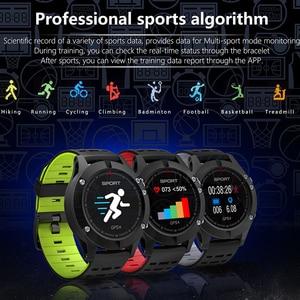 Image 2 - Focusmart f5 스포츠 스마트 시계 gps 혈압 심장 박동 모니터 피트니스 트래커 ios andriod 용 방수 스마트 시계