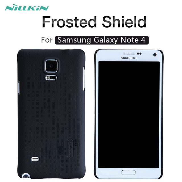 more photos 0ac59 3d68e US $7.19 |For Samsung galaxy Note 4 case NILLKIN Frosted Shield matte hard  back cover case for Samsung galaxy Note4-in Half-wrapped Cases from ...