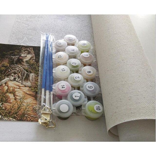Online Shop Kesepian Menunggu Payung Minyak Lukisan Gambar Dengan