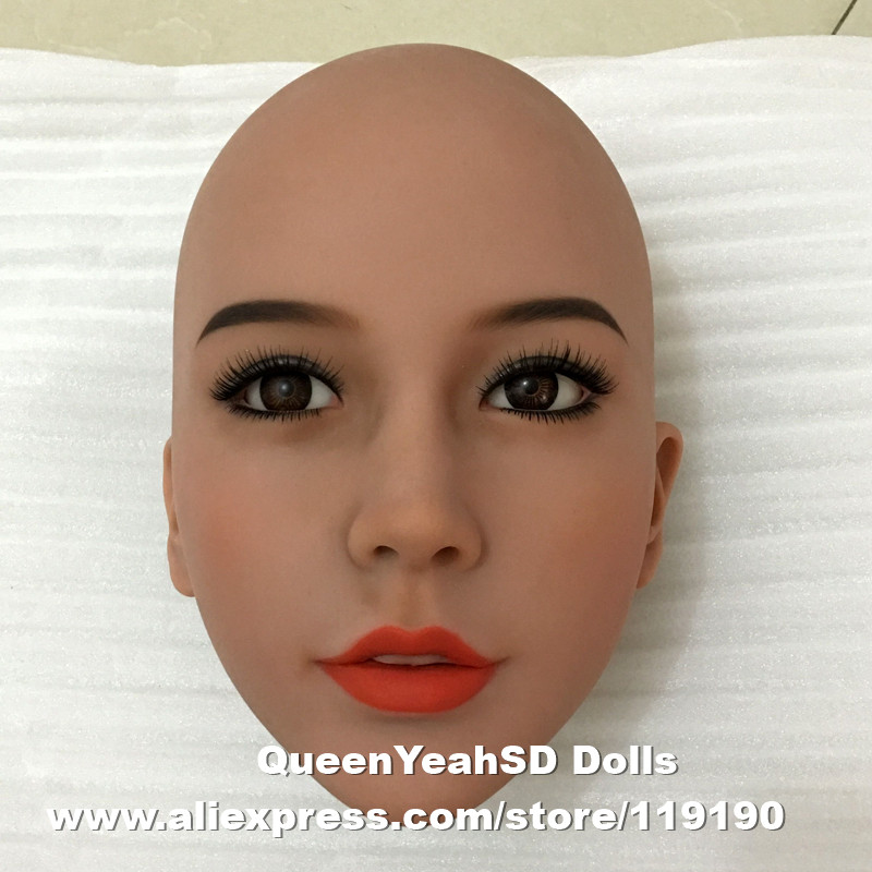 #56 Top quality oral head for real doll sex doll, love doll, sexy toy for men, can fit for 140cm to 168cm height body top quality wmdoll 105 head for tpe sex doll love doll heads oral sexy toys can fit for 140cm 170cm body