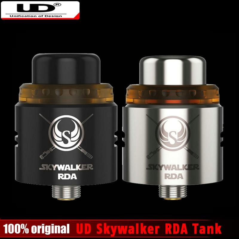 Original UD Skywalker RDA Tank 24mm Diameter 2 Posts Delrin Drip Tip Atomizer Clapton Coils PEI Heat-Resistance Top Cap Pre-sale