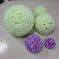 Free Shipping (color:ivory)Wedding Decorations Silk Kissing Pomander rose Flowers Balls Wedding bouquet Home decorations
