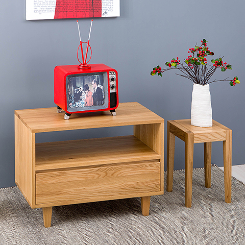 Modern Minimalist Living Room Bedroom TV Cabinet Scandinavian Japanese Small  Apartment Solid Wood TV Cabinet Wood Color IKEA In Bar Tables From  Furniture On ...