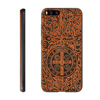 Xiaomi Mi6 Slim Wood Case Newest 3D Carved Wooden TPU Hard Back Cover Full Portect For