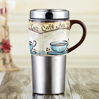 Evergreen Water Glass Ceramic Cup Stainless Steel Coffee Mug With Cover Glass Vehicle