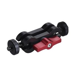 """Image 2 - جهاز المراقبة الميدانية LED الفيديو الضوئي هيكل قفصي الشكل للكاميرا Andoer توضيح ماجيك الذراع رصد جبل ث/مزدوجة ballhead + 1/4 """"برغي للكاميرا"""