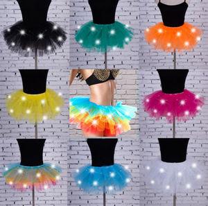 Image 3 - Sexy Girls Light Up LED Tutu Stage Vũ Tutu Ngắn Mini Skirt Dancewear Evening