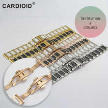 6 color Fashion 14/16/18/20/22mm Ceramic Watch Strap Soft Smooth Ceramic Fill Multi-Design WatchBand Stainless Steel Common Band - DISCOUNT ITEM  36% OFF Watches