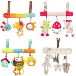 Nette Baby Spielzeug Infant Tier Krippe/Auto/Bett Rasseln Spielzeug Baby Sitz Zubehör Tier Baby Mobile Kinderwagen Spielzeug plüsch Spielen Puppe