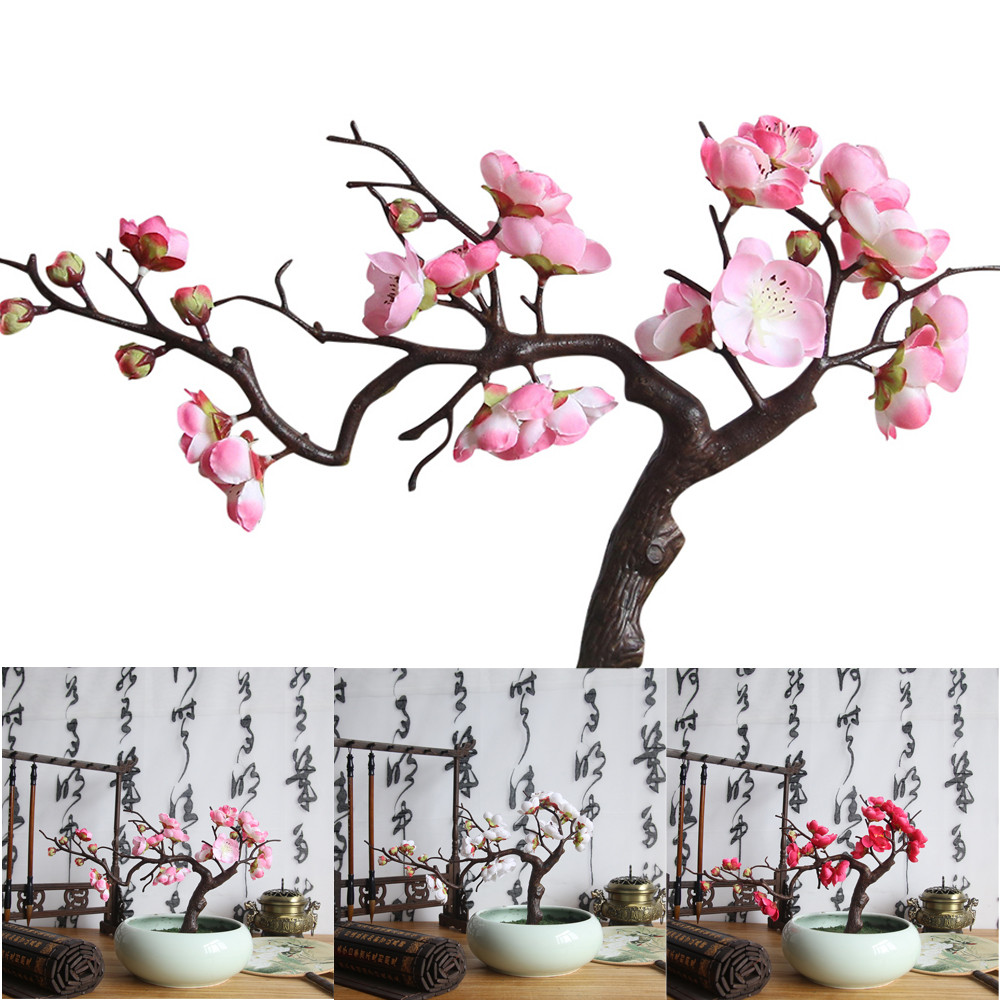 Remarquable  Mot-Clé 32PC Artificial plum blossom floral arrangement Cherry Blossoms ...