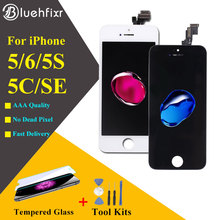 1PCS/LOT 100% AAA Quality No Dead Pixel For iPhone 5S SE 6 6S 3D Force Touch LCD All Tested Screen Test By One Glass+Tools 50pcs brand new no dead pixel all tested alibaba china clone screen for iphone 5s lcd test one by one free shipping