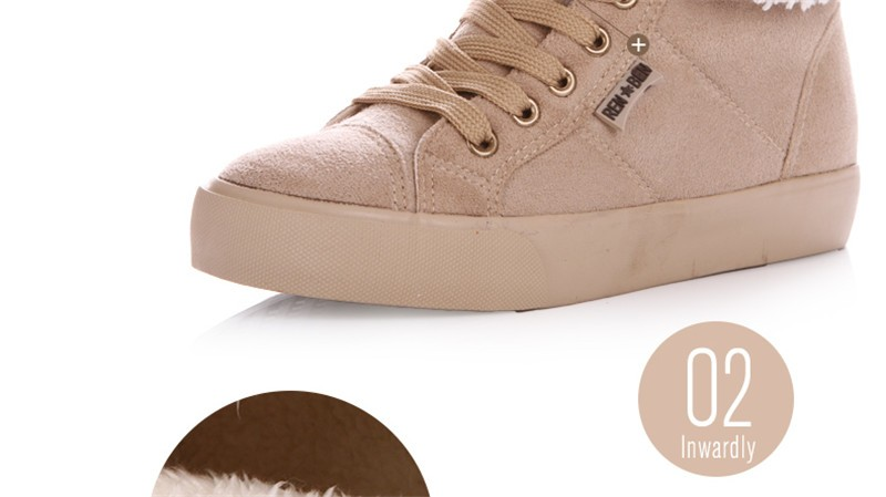 New Women Winter Faux Suede Leather Warm Plush Ankle Boots Autumn Women Shoes Fur Snow Boots Comfortable Running Shoes Sneakers 28
