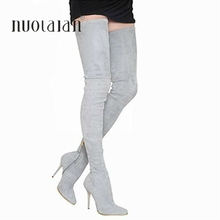 oothandel leather thigh high boots Gallerij Koop Goedkope