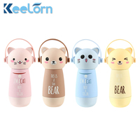 Keelorn 260ML 304 Stainless Steel Vacuum Flasks Thermoses Cup Creative Cartoon Cute Mini Straight Vacuum Flask