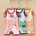 0-12M High Quality 100% Cotton Newborn Baby Romper Girl and Boy Short Sleeve Print Summer Clothing Set Jumpsuits Infant Romper