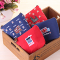 Lovely Cartoon Sewing London Bus England Flag Soldier Stamp Fashion Stationery Coin Purse Key Bag Zipper Wallet Make Up Pouch 40