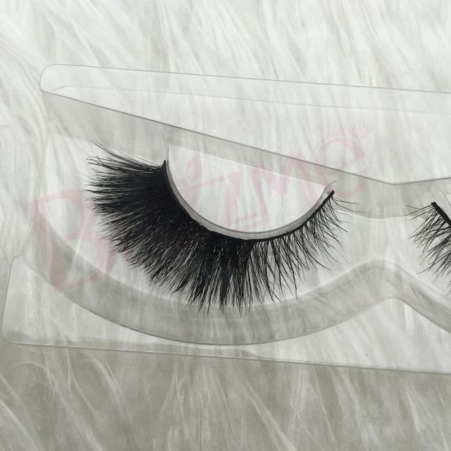 Frete grátis BH03 1 pçs/lote 100% de cabelo verdadeiro cavalo de cílios dupla layered fluffy cílios postiços