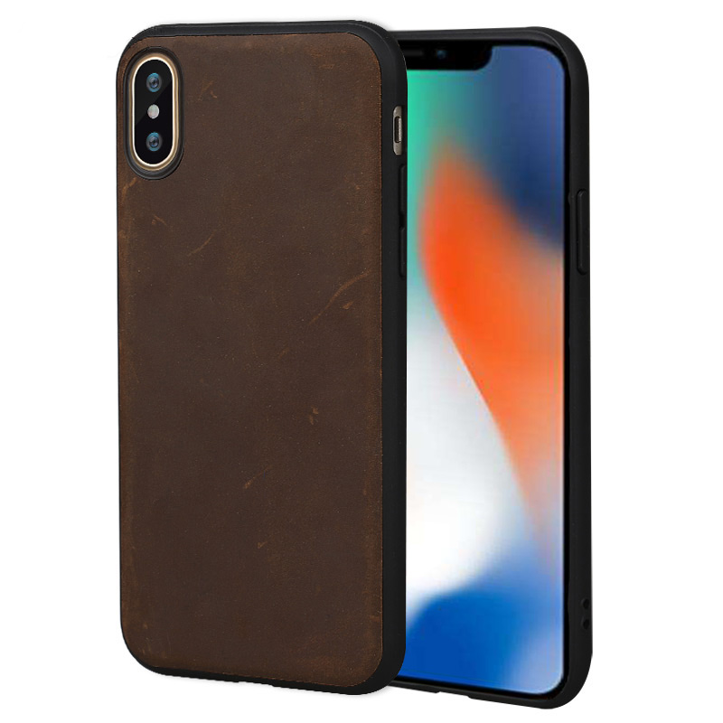 Retro Genuine PULL UP Leather phone case for iphone X 11 11 Pro Max XS XR