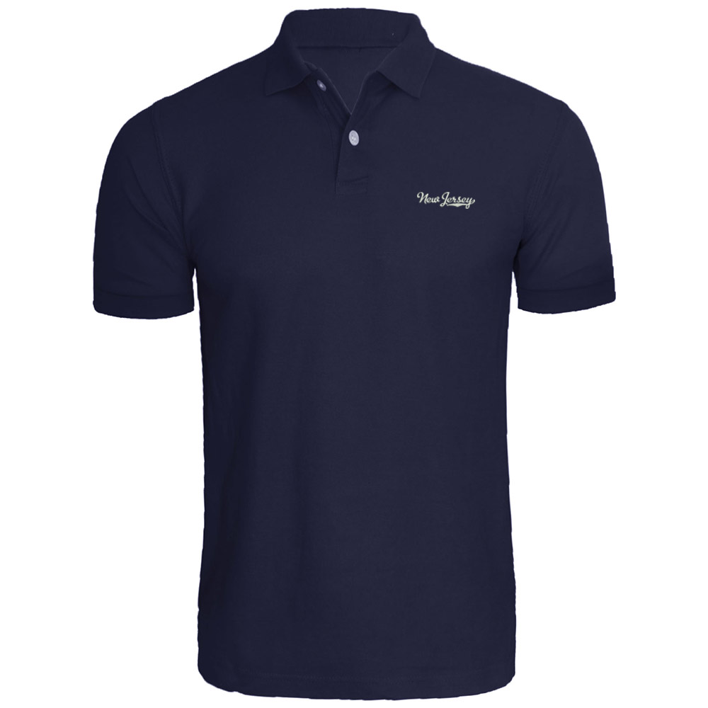 Mens New Jersey Vector Design Embroidery   Polo   Shirts Embroidered Shirts