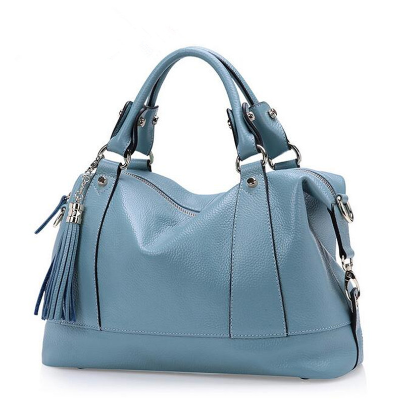 Ladies handbag new fashion designer tassel women genuine leather handbags high quality cowhide shoulder bags tote messenger Bag fashion women bags 100% first layer of cowhide genuine leather women bag messenger crossbody shoulder handbags tote high quality