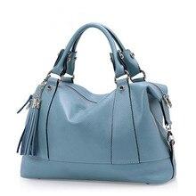 Женская сумка новые модные дизайнерские кисточкой Женщины Натуральная кожа сумки высокого качества Теплые сумки на плечо сумка