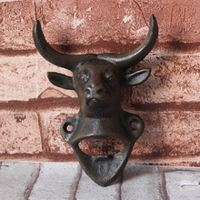 Creative Co-Op Cast Iron Bottle Opener, Cow
