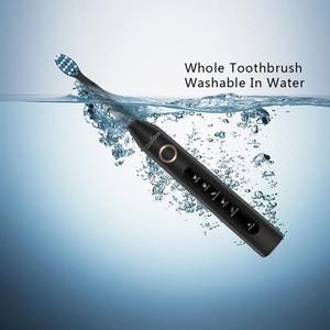 Image 3 - を Seago ソニック歯ブラシ電動 USB 充電式防水交換ブラシヘッド最高のギフト
