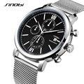 SINOBI многофункциональные умные мужские часы из нержавеющей стали  Кварцевые спортивные наручные часы  водонепроницаемые  топ-бренд  модные ...
