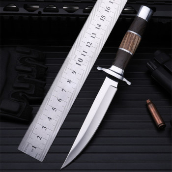 2020 New Free Shipping High Hardness Outdoor Hunting Knife Self-defense Wilderness Survival Camping Wood Handle Fruit Knives stenzhorn new damascus black antelope folding knife outdoor portable field army high hardness wilderness survival small knives