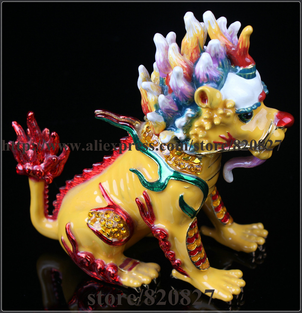 Chinese dragon trinket box Feng Shui dragon treasure jewelry box collectible fantasy dragon decoration figurine dragon