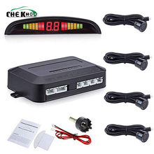 Car Parking Sensor System Led Display  4 Sensors 22mm Parktronic Reverse Kit Radar Sensoru Detector Parkeersensor