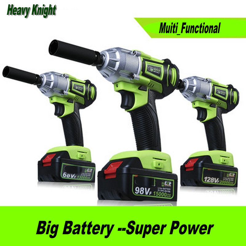 98TV 15000mAh Integrated Cordless Electric Wrench Impact Socket Wrench Li Battery Hand Drill Hammer  Power Tools sony cp s15 s 15000 mah