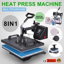 a428738b9 8 combo 1 heat press machine for T-shirt, plate, rubber heat transfer  printing