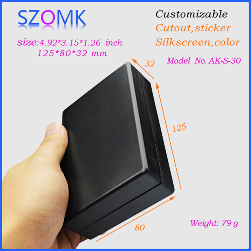 20 pieces a lot, szomk hot sales electronic diy enclosure 125*80*32mm distribution box plastic enclosures electronics project