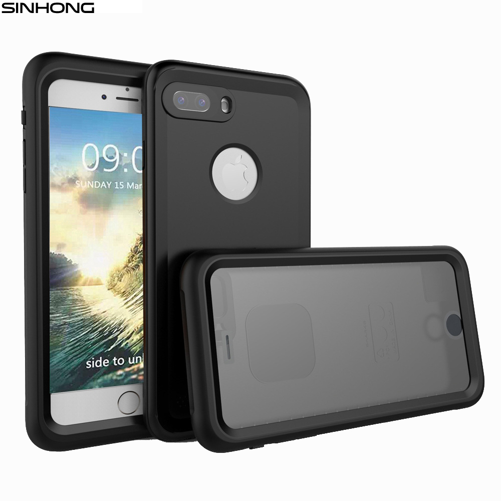 For Apple iPhone 7 7 Plus Waterproof Phone Case IP68 10m Deep Water Dirty Shock Proof Cover Full Body 360 Degree Protective Capa