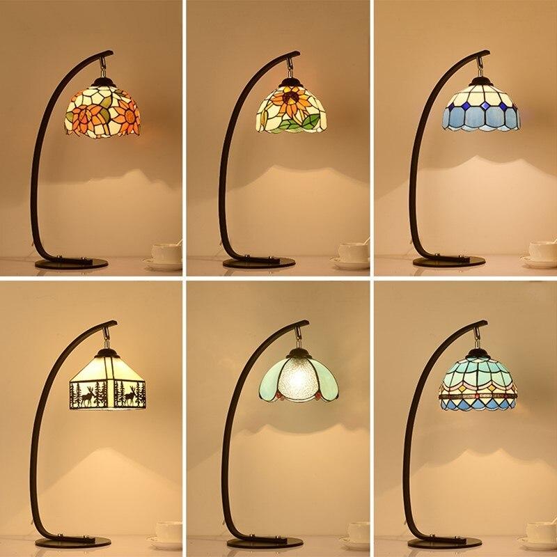 Европейский стиль спальни сад Ретро исследования настольная лампа кафетерий стекло гладить Бар творческий тумбочка свет za1115935